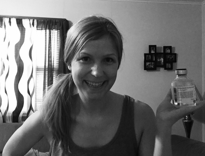 I double checked. It is not an illusion. I am holding a bottle of IVIG in this picture. It happened.